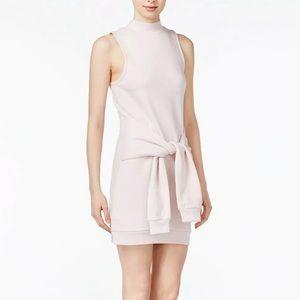 Kensie Pale Sleeveless Tie Front Sweatshirt Dress